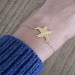 Bracelet chic plaqué or étoile de mer Flor Amazona