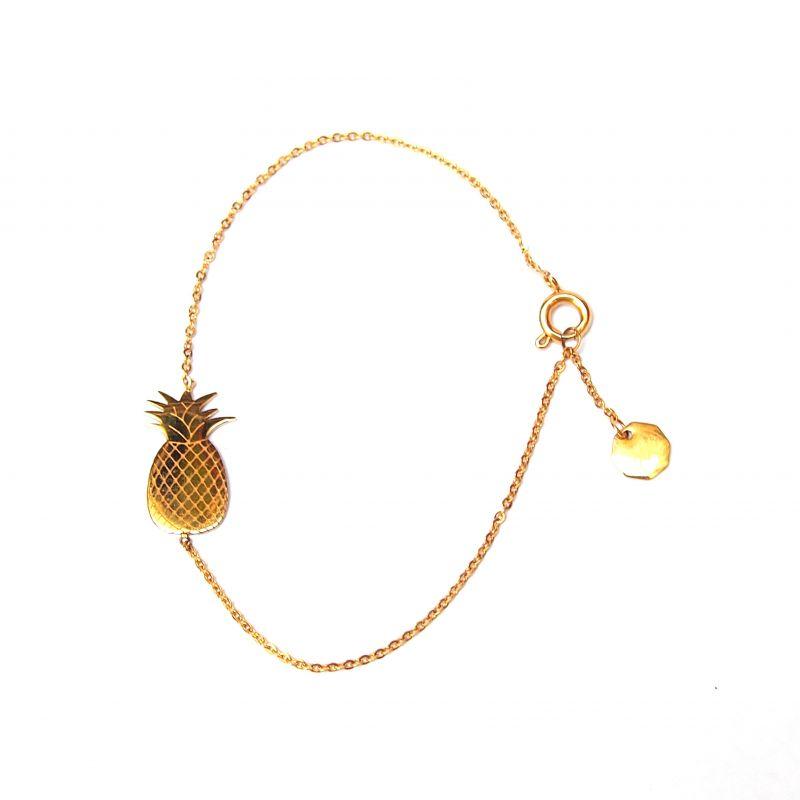 Bracelet fin or ananas