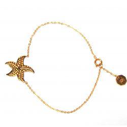 Bracelet fin plaqué or étoile de mer