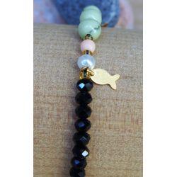 Bracelet perles multicolore femme