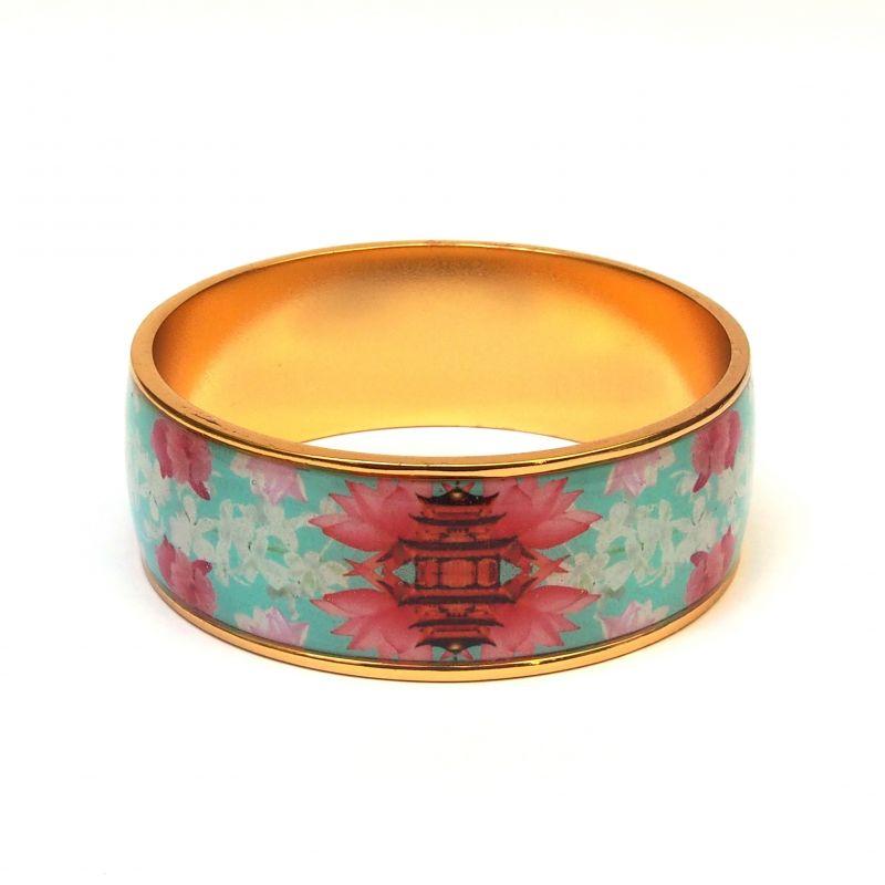 Bracelet émaillé turquoise