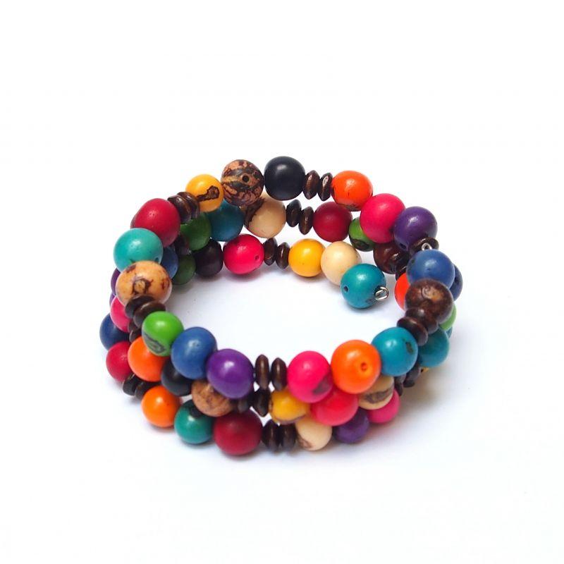 Bracelet multirang graines