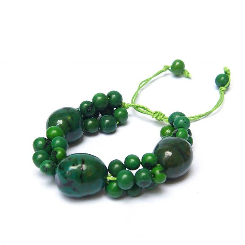 Bracelet vert graines