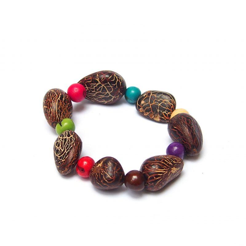 Bracelet graine asahi et ivoire végétal