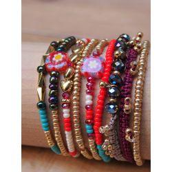 Bracelet  multirangs perles femme