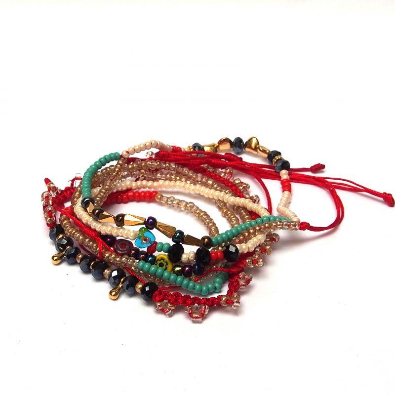 Bracelet multirang perles et Murano