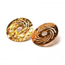 Boucles d'oreilles plaqué or ethniques précolombien
