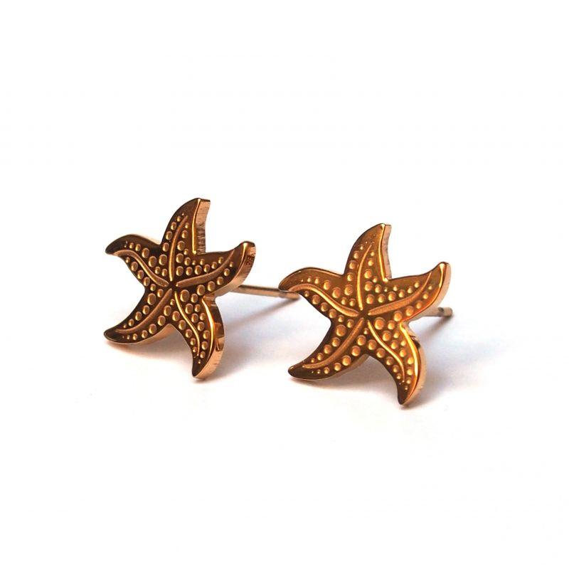 Boucles d'oreilles plaqué or étoile de mer