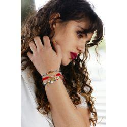Bracelet multirangs mandala femme