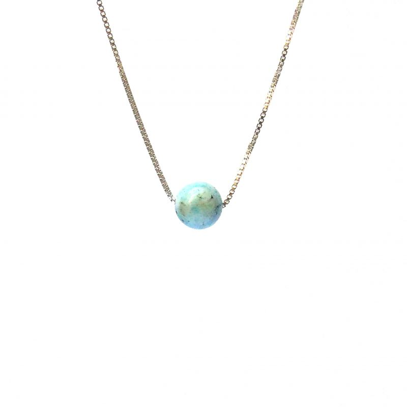 Collier en argent pierre Amazonite