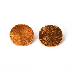 Boucles d'oreilles plaqué or rondes