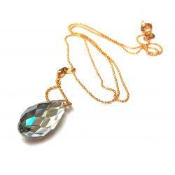 Collier plaqué or en verre de Murano