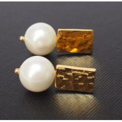 Boucles d'oreilles plaqué or perles goutte d'eau