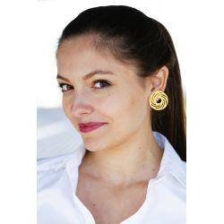 Boucles d'oreilles en or ethnique précolombien - femme