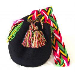 Mochila wayuu noire