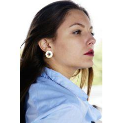 Boucles d'oreilles plaqué or perles multicolore - femme