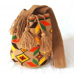 Mochila wayuu marron