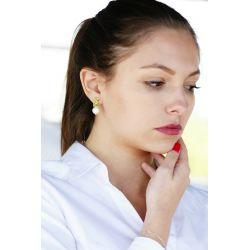 Boucles d'oreilles plaqué or perles goutte d'eau - femme