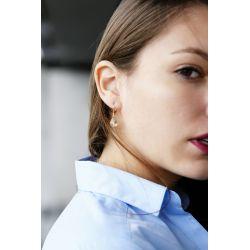 Boucles d'oreilles plaqué or Citrine2