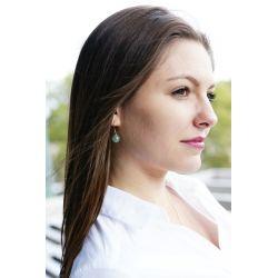 Boucles d'oreilles plaqué or Aventurine - femme