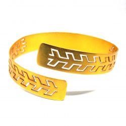 Bracelet ethnique plaqué or