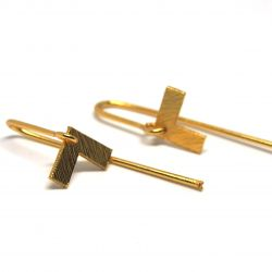 Boucles d'oreilles plaqué or