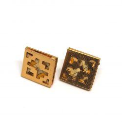 Boucles d'oreilles ethniques plaqué or