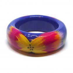 Bracelet multicolore bois et résine