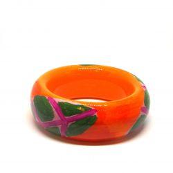 Bracelet bois et résine coloré