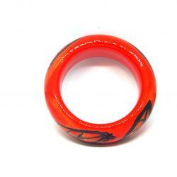 Bracelet bois et résine rouge