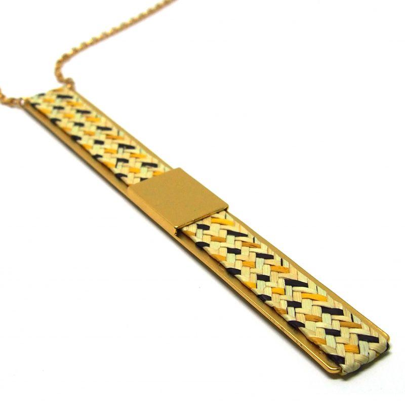 Sautoir ethnique plaqué or