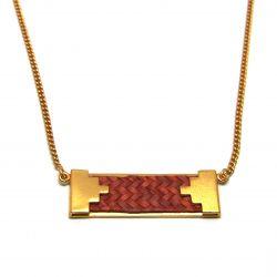 Collier ethnique plaqué or