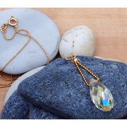 Détail collier Murano plaqué or