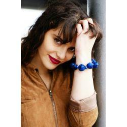Bracelet peau d'orange bleu femme - femme