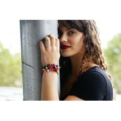 Bracelet multirang graines asahi multicolore femme - femme