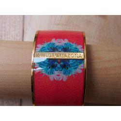 Bracelet émaillé rose - porté_Flor Amazona