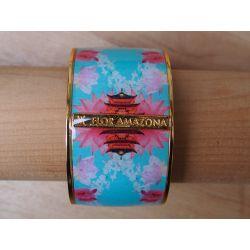 Bracelet émaillé 4 cm turquoise_Flor Amazona