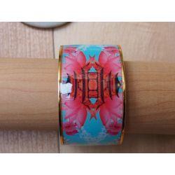 Bracelet émaillé 4 cm turquoise