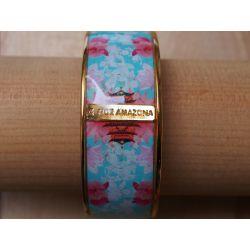 Bracelet émaillé 2,5 cm turquoise_Flor Amazona