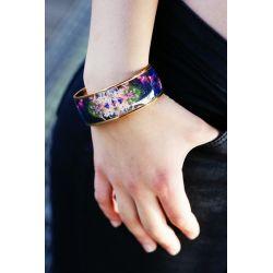 Bracelet émaillé noir - porté_Flor Amazona