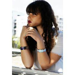Bracelet émaillé noir - femme_Flor Amazona
