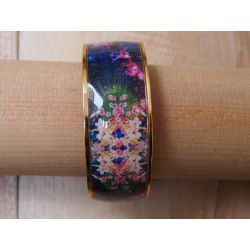 Bracelet émaillé noir_Flor Amazona