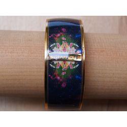 Bracelet émaillé noir