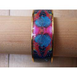 Bracelet émaillé bleu femme_Flor Amazona