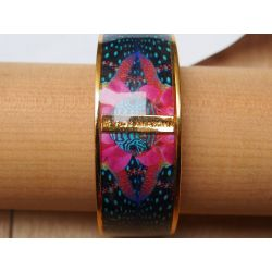 Bracelet émaillé bleu