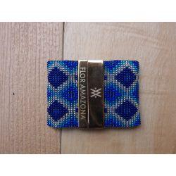 Bracelet tissé à la main bleu