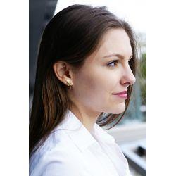 Boucles d'oreilles plaqué or Palmier