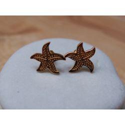 Boucles d'oreilles plaqué or Etoile de mer