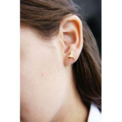 Boucles d'oreilles plaqué or Colibri - porté