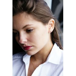 Boucles d'oreilles plaqué or Colibri - femme